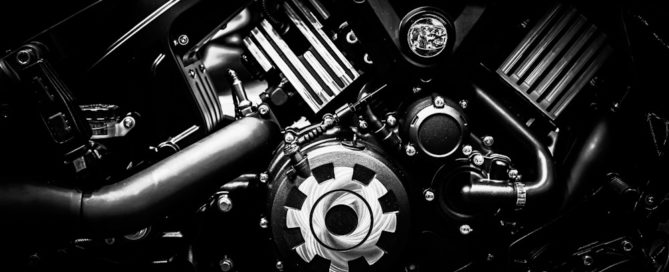 Engine after tune up and auto repair